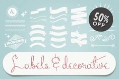 Too many ideas poppin off! I love this Chic's work! Check out Labels & Decorative Vectors by hello_tomodachi on Creative Market