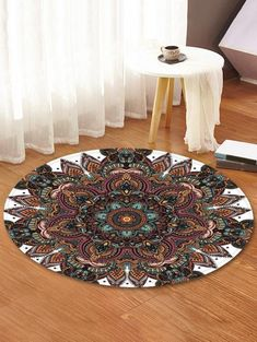 Mandala Pattern Anti-skid Round Floor Rug for Home decor Interiors Apartments Future Living Room House Master Bedrooms.They are beautiful, lovable and affordable. You deserve it! Dark Carpet, Beige Carpet, Patterned Carpet, Modern Carpet, Where To Buy Carpet, Cheap Rugs, Large Area Rugs, Carpet Colors, Mandala Pattern
