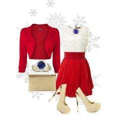 """Christmas bright look)"" by fossil0809 on Polyvore"