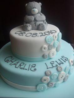 christening cake boy - Google Search