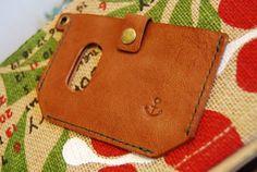 Purse ハンドメイドカードケース本革名刺入れ定期入れSuicaPASMO インテリア 雑貨 Handmade ¥1500yen 〆05月20日