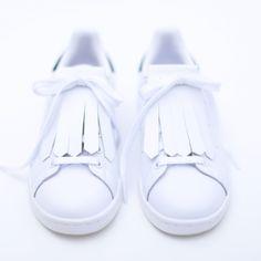 VOW label Kiltie wit - franje voor sneakers
