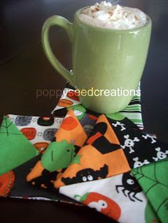 Easy and fast fabric coaster tutorial