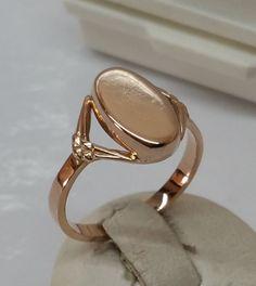 Vintage Ringe - Goldring 585 Rotgold schlichte Eleganz alt GR195 - ein Designerstück von Atelier-Regina bei DaWanda