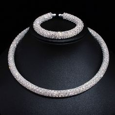 New Disign Luxury Maxi Crystal Collar Necklace Gold/Silver Plated Rhinestone Torques Choker Necklaces For Women Wedding Jewelry-in Choker Necklaces from Jewelry & Accessories on Aliexpress.com | Alibaba Group