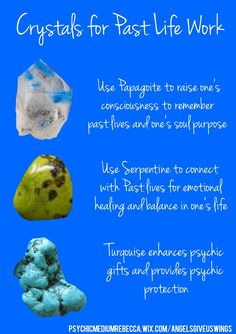 Crystals used for past life work