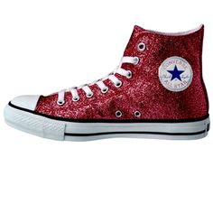 e01fa3059201 Women s Sparkly Glitter Converse All Stars High Top - Burgundy