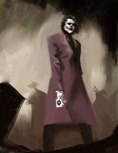 The Joker - It's All Part of the Plan by *ninjaink Nananana Batman, In The Pale Moonlight, Heath Ledger Joker, Greatest Villains, Batman Universe, Dc Universe, Joker Art, Creepy Clown, Im Batman