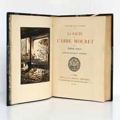 """""""La Faute de l'Abbé Mouret"""", par Émile ZOLA, bois gravés de Maurice ACHENER, publié en 1922 Chez G. & A. Mornay Libraires. Imprimé sur papier de Rives."""