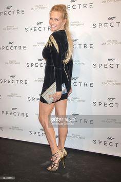 Estelle Lefebure attends the 'Spectre' Paris Premiere at Le Grand Rex on October 29, 2015 in Paris, France.