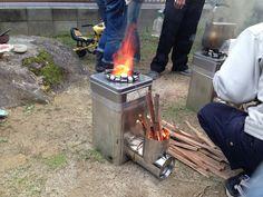 この間、一斗缶ロケットストーブを作るワークショップに参加してきたよ。