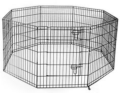 Merax Black ECoat 8Panel Pet Dog Small Animals Playpen Exercise Kennels 48Inch -- Learn more by visiting the affiliate link Amazon.com on image.