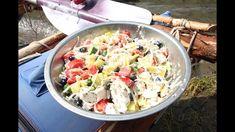 Греческий салат - походный Pasta Salad, Potato Salad, Potatoes, Ethnic Recipes, Food, Crab Pasta Salad, Potato, Essen, Noodle Salads