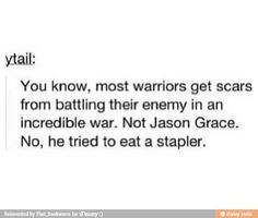 Jason and his battle with the stapler