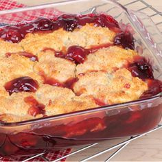 A delicious smell and gorgeous apple cherry cobbler recipe.. Apple-Cherry Cobbler  Recipe from Grandmothers Kitchen.