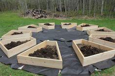 raised beds for a wheel garden 3
