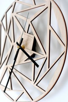 Wood wall clock/ Unique wall clock / Modern wooden clock by 8trees