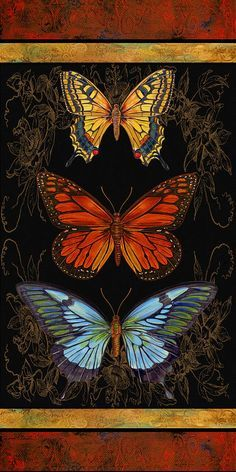 Butterfly Treasures-willa Belle Painting