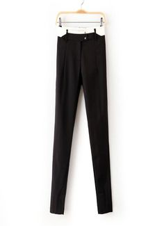 Waist Contrast Color Casual #Pants# black and blue available now, suit for spring, summer, autumn seasons