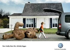 Print advertisement created by DDB, France for Volkswagen, within the category: Automotive. Volkswagen Caddy, Volkswagen 181, Funny Commercials, Funny Ads, Ads Creative, Creative Advertising, Advertising Ideas, Advertising Campaign, Marketing And Advertising