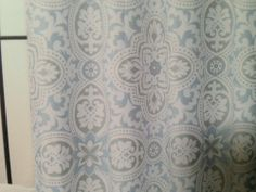 72 x 78 LONG Grey Damask Shower Curtain EXTRA LONG by PondLilly ...