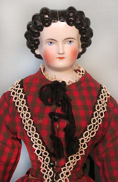 Antique German China Head Lady with Black Finger Curls from abigailsattic on Ruby Lane Black Fingers, Finger Curls, Frozen Dolls, Ladies Gents, China Dolls, Bisque Doll, Antique China, Doll Head, Collector Dolls