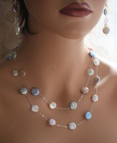Sterling Silver and coin pearl