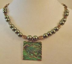 'Green and Bronze Necklace' is going up for auction at 10am Thu, Apr 11 with a starting bid of $6.