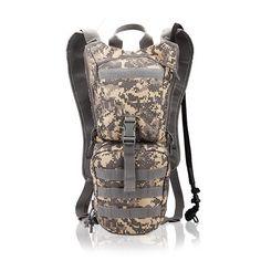ZDLF 3L Green Water Bag Camuflaje Deportes Militar T/áctica Hidrataci/ón Nylon Mochila de Camping al Aire Libre