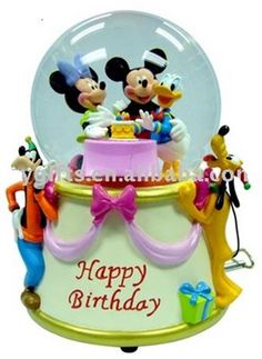 Disney Fab 5 Birthday Snowglobe