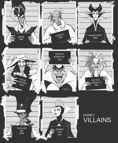 Disney villain mugshots | 12 Kinds Of Mugshots You Can Find On Pinterest