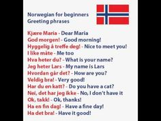 Learn Norwegian - Greeting Phrases & How To Introduce Yourself
