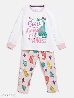 Nightsuits Fancy Cotton Blend Night Suits Fabric: Cotton Blend Sleeves: Full Sleeves Are Included Size: Age Group (1 - 2 Years) - 18 in Age Group (2 - 3 Years) - 20 in Age Group (3 - 4 Years) - 22 in Age Group (4 - 5 Years) - 24 in Age Group (5 - 6 Years) - 26 in Age Group (6 - 7 Years) - 28 in Age Group (7 - 8 Years) - 30 in Type: Stitched Description: It Has 1 Piece Of Girl's Top & 1 Piece Of Pant Work / Pattern: Top - Printed Bottom - Printed Country of Origin: India Sizes Available: 2-3 Years, 3-4 Years, 4-5 Years, 5-6 Years, 6-7 Years, 7-8 Years, 1-2 Years   Catalog Rating: ★4.3 (472)  Catalog Name: Girl's Fancy Cotton Blend Night Suits Vol 1 CatalogID_507996 C62-SC1158 Code: 903-3643338-447
