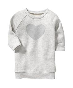 Old Navy Metallic Heart-Graphic Jersey Dresses for Baby - on #sale 41% off @ #OldNavy