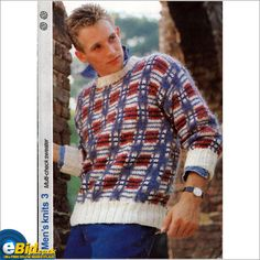 fb7bb4f81 Gents  mens jumper   sweater knitting pattern for Double knit patterns  number 3 on eBid