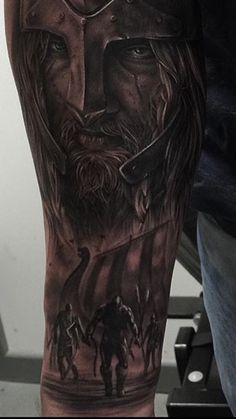 The start of my sleeve so far #Vikings #Nordic #Tattoo #Viking #Longboat #Sleeve
