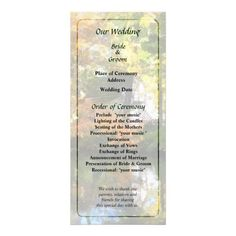 White House by Lake in Autumn Wedding Program by Susan Savad -- Autumn wedding program that you can customized yourself.  #wedding  #weddingprogram #weddingprograms #gettingmarried #customize #autumn #fall   $0.55  per card   BULK PRICING AVAILABLE!