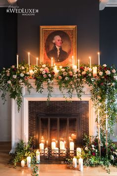 Langdon Hall Fire Place flower design by Rachel A. Clingen