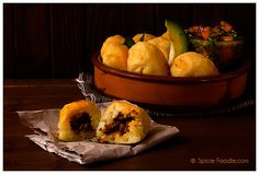 Papas Rellenas Con Chorizo or Chorizo Stuffed Potatoes by Spicie Foodie