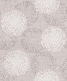 Naturale Circle (68509) - Albany Wallpapers - A bold and reflective circular design shown in a soft silvery purple with white detail and a woven texture. This product uses metallic inks creating a light and reflective look. Please request a sample for true colour match. This is a paste the wall product.