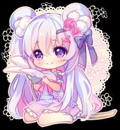 [+Video] Commission - Flower Buddy by Hyanna-Natsu on DeviantArt Cute Anime Chibi, Kawaii Chibi, Cute Anime Pics, Kawaii Art, Kawaii Anime Girl, Anime Art Girl, Chibi Girl Drawings, Cute Kawaii Drawings, Hyanna Natsu