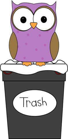 Owl Classroom Trash Helper