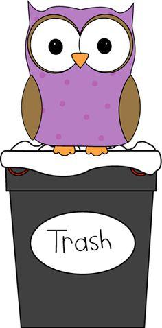 Owl Classroom Trash Helper