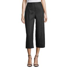 Worthington Womens Modern Fit Wide Leg Crop - JCPenney