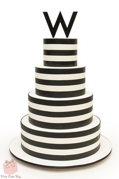 Black and White B'nai Mitzvah Cake