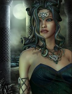 Medusa When She Was Beautiful Medusa Pictures, Medusa Art, Medusa Gorgon, Turn To Stone, Fantasy Women, Fantasy Art, Greek Gods, Greek Mythology, Roman Mythology