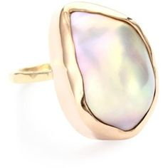 """Melissa Joy Manning """"Not Your Mother's Pearls"""" Baroque Pearl Ring"""