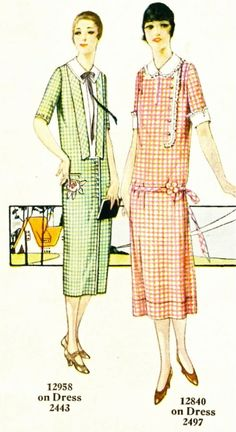 Embroidered 1920 s Dresses from Pictorial Review Embroidery Magazine -  zakrecona-milka 1920s Outfits 73b3d65eb