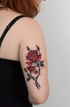 Amazing rose tattoo - 120  Meaningful Rose Tattoo Designs  <3 <3