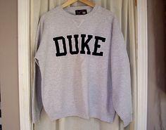 Vintage 80s distressed DUKE crewneck sweatshirt by CashleyVintage, $20.00